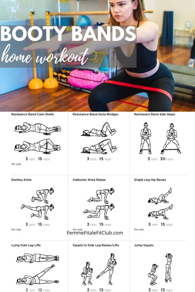 Build a bigger and stronger booty with this booty bands workout.  So grab your fabric booty bands by ProsourceFit and get to workout.  #squats #deadlifts #bootyworkouts #bootybands #gluteworkout #bootyworkout #miniresistancebands #prosourcefit #resistancebands #fabricresistancebands #clothresistancebands