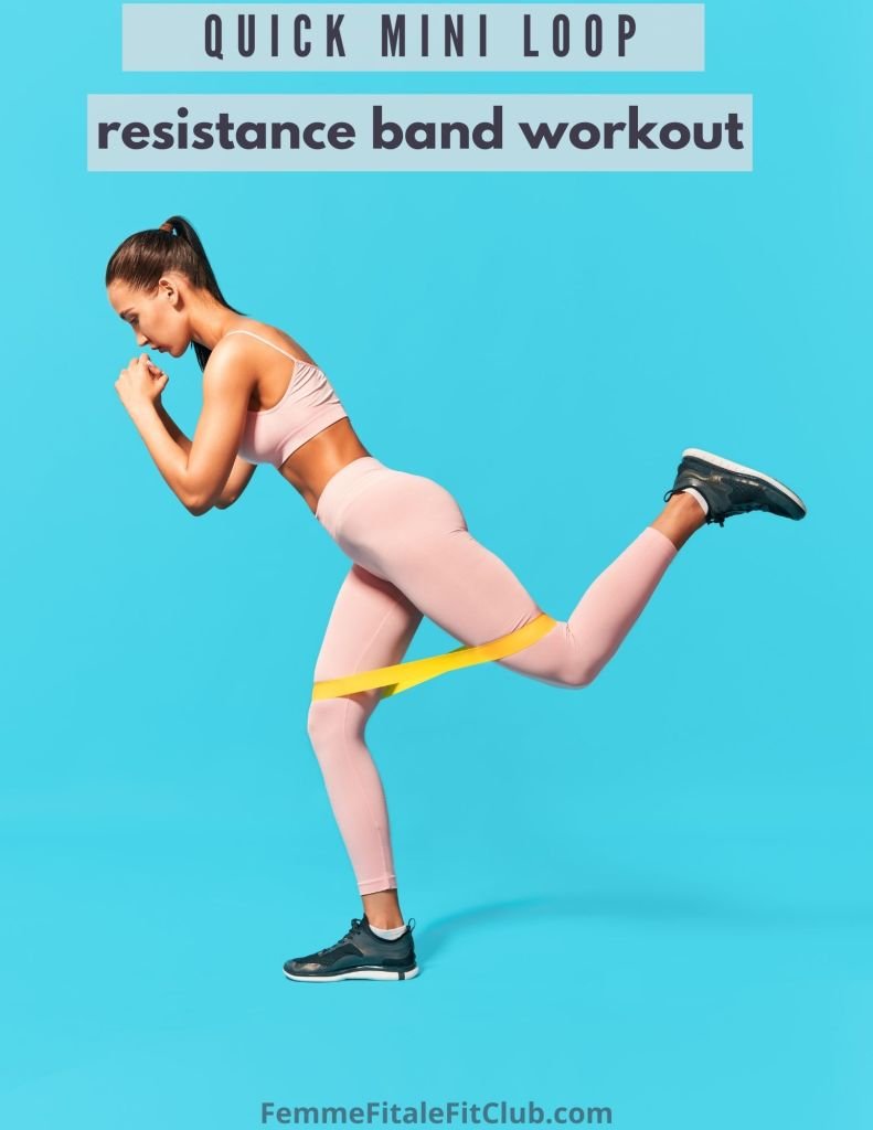 Take your workout to the next level with this quick mini loop resistance band workout you can do practically anywhere with minimal equipment. #resistancebands #prosourcefit #miniloopbands #resistancebandworkout