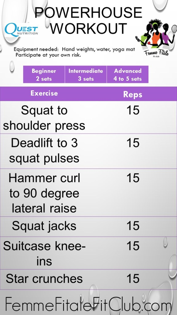 Powerhouse Workout sponsored by Quest Nutrition