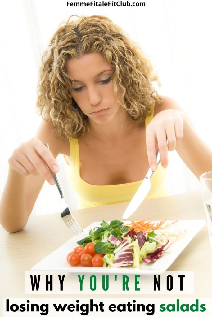 Are you eating salads daily and still not seeing movement on the body weight scale?  Here are some possible reasons why.   #salads #eatsalad #vegan #weightloss #weightlosstips #fatlosstips #saladjam