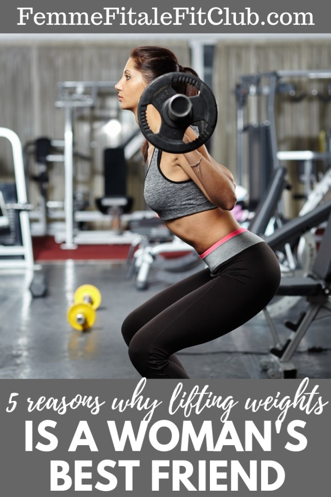 5 reasons why lifting weights is a woman's best friend. #crossfit #crossfitforwomen #muscle #weightlifting #buildyourbody #fitness #womenandweightlifting #healthy #bonedensity #healthybones #musclestrength #power #muscle #leanmuscle #strengthtraining #weighttraining #resistancetraining