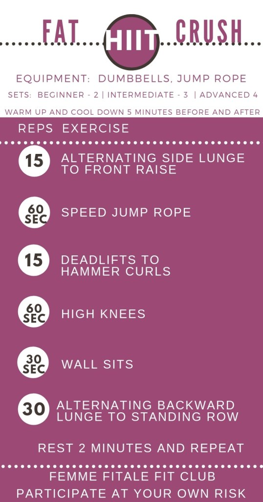 Fat HIIT Crush Workout by Femme Fitale Fit Club #workout #totalbodyworkout #fullbodyworkout #athomeworkout