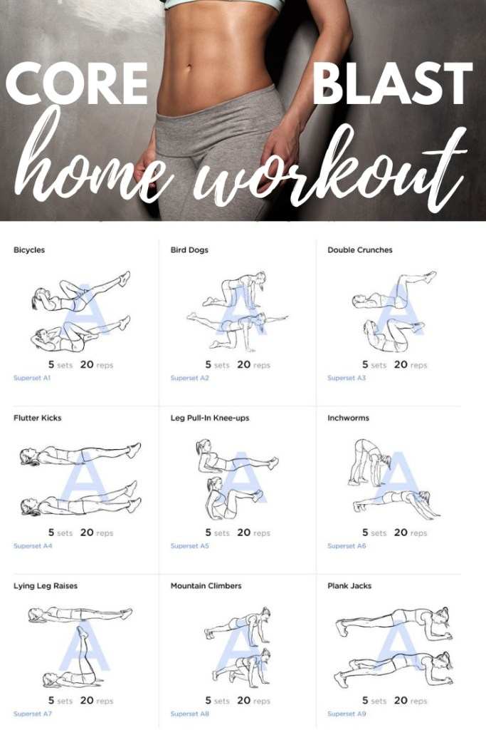 Get your waistline, abs and core in order with this mega calorie burning core workout you can easily do at home and no exercise equipment needed. #bodyweight #bodyweightexercise #homeworkout #absworkout #getflat #sixpackabs #absin30days