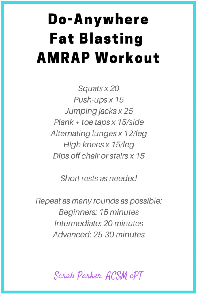Do-Anywhere Fat Blasting AMRAP workout #weightlossforwomen #homeworkoutsforwomen #gymworkoutsforwomen #fatlossforwomen #weightlossjourney #fatloss #weightloss #gethealthy #healthyandfit #womensfitness