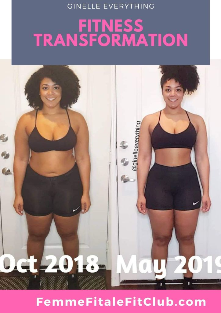 Read how Ginelle Everything transformed her body and snatched her waist. #weightlossbeforeandafter #weightlosstransformation #weightlosstips #blackwomenweightloss #weightlosssuccess