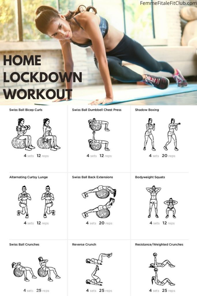 On lockdown at home due to stay at home orders?  Don't let your body suffer, try this at home workout in your home gym with swiss ball and dumbbell home gym equipment. #athomeworkout #workoutathome #homegym #homegymequipment #swissballworkout #dumbbellsworkout #workoutforwomen #workoutfromhome