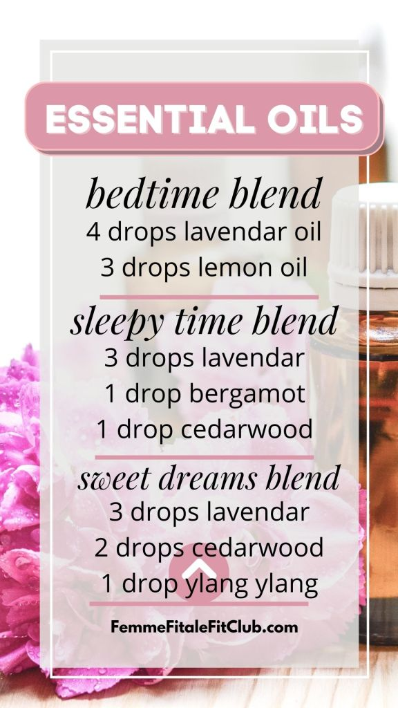 Adopt these bedtime essential oil routines to help you get a good night's peaceful and restful sleep. #bedtimeessentialoils #sleepytimeessentialoils #essentialoilblends #essentialoil #essentialoilblendsforthediffuser