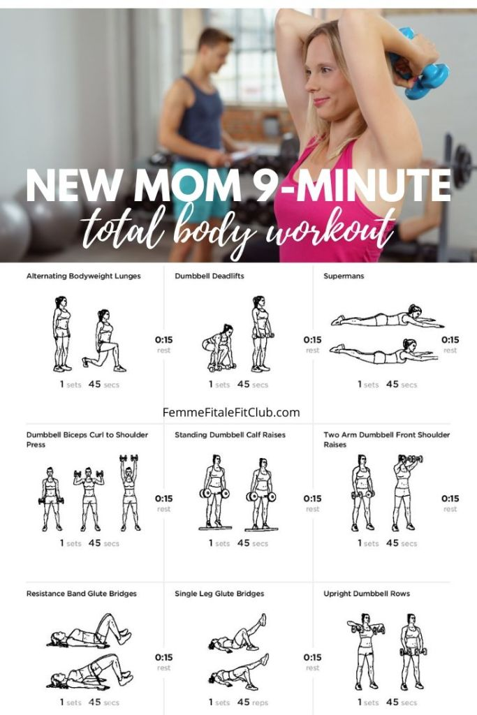 Don't have a lot of time then try this 9-minute full body post-baby workout to help you burn calories, build strength and lose weight.