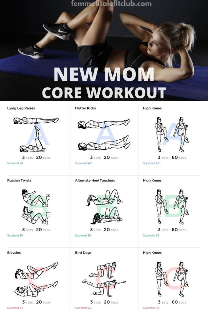 If you are a new mom and ready to get your mom body snatched back then you want to check out this core and abs workout.  You can do this at home if you can't get to mommy and me fitness classes. #postpartum #mommyworkout #totalbodyworkout #exercise #postnatal #newmommyworkout #coreworkoutformoms