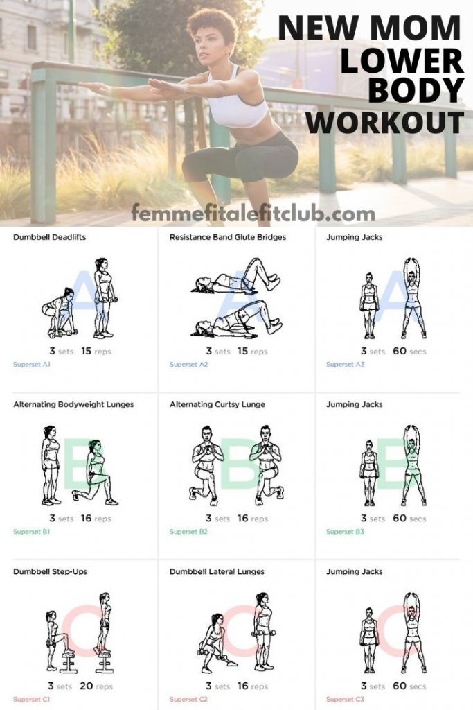 As a new mom you need strength in your lower body to help lift babies and small children. This workout helps build strength and shape your legs, hamstrings, glutes and thighs. #momsintofitness #exercise #postpartum #postnatal #momsfitness #newmommyworkout #newmomworkout #lowerbodyworkout #bootyworkout
