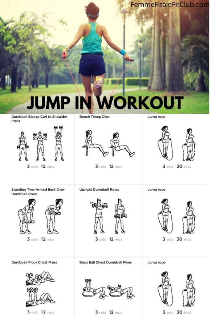 This Jump In workout integrates cardio in between strength exercises to help you burn fat while toning. #jumpin #cardioworkout #cardio #jumprope #speedrope #mma #crossfit #boxing