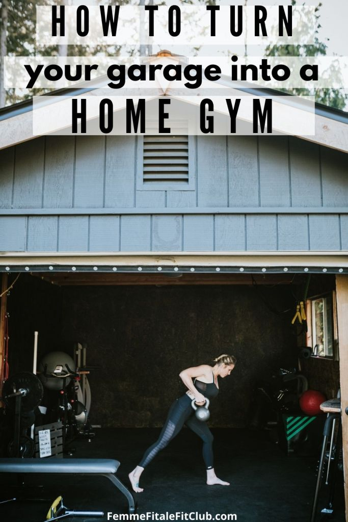 Convert your own garage into a home gym with these easy steps.  #homegym #garagegym #athomegym