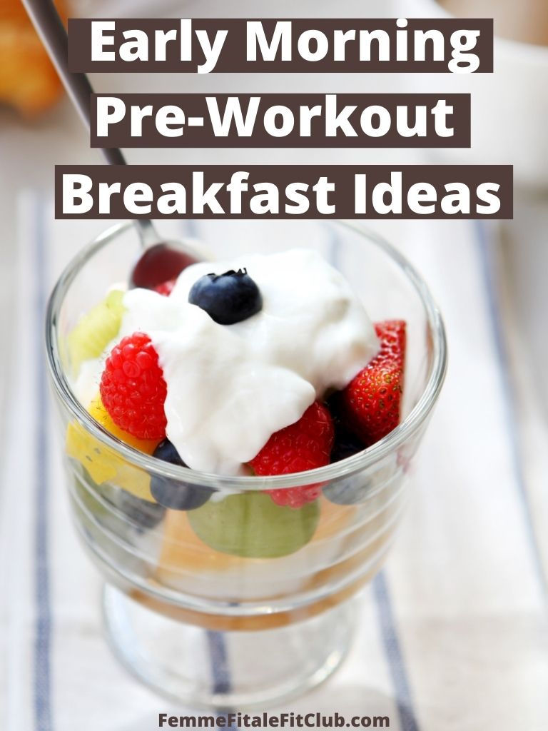Take your early morning workouts to the next level with these breakfast ideas you can consume as your early morning pre-workout.  #foodie #healthfood #eatclean #eatandexercise #fitnessfood