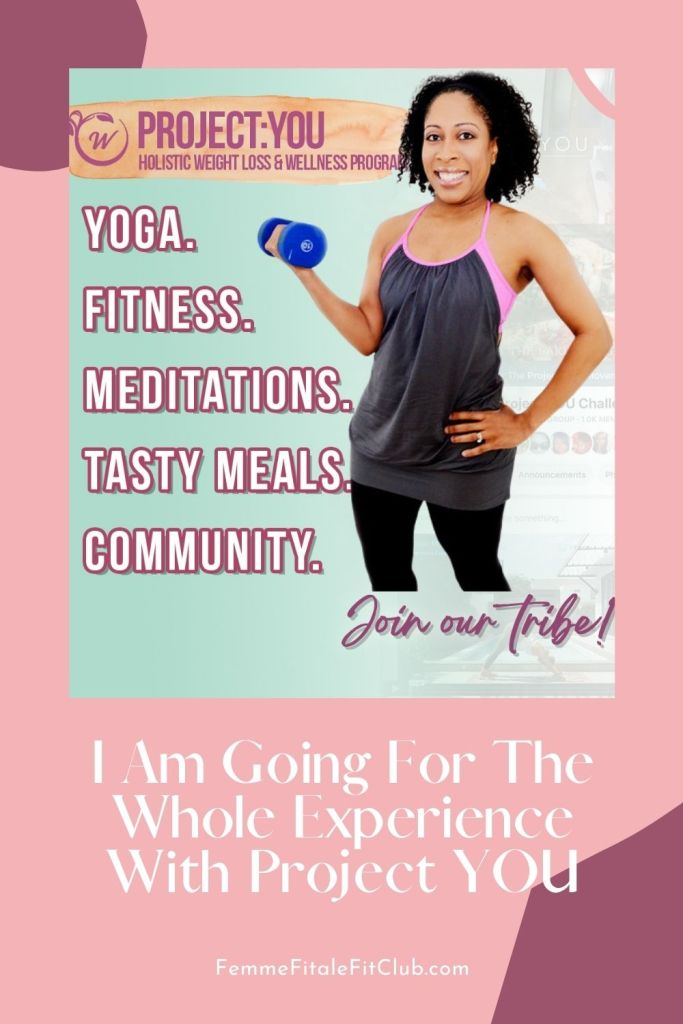 Join me in taking a more holistic approach to my health and wellness with the Project You program in order to get the whole experience.  This program is a well-rounded program that includes a virtual studio with yoga and workout videos along with workshops and mindfulness homework exercises.  You can also sign up and try it for free for 7 days.  Let's do this.  #wellness, mindfulness, meditation, workouts, yoga, women's health, yoga at home, at-home workouts, home gym, workout at home