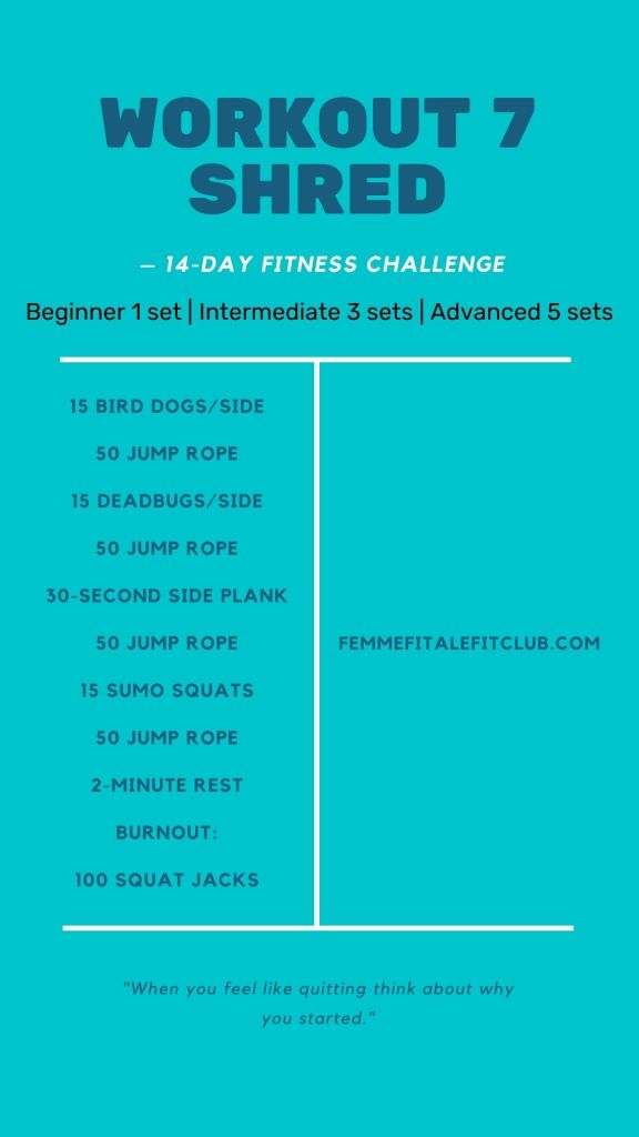Want to get shredded for the season or a special occasion?  Then follow this fun challenge for 14 days and get your body tight and toned. #tightandtoned #14dayfitnesschallenge #2weekfitnesschallenge