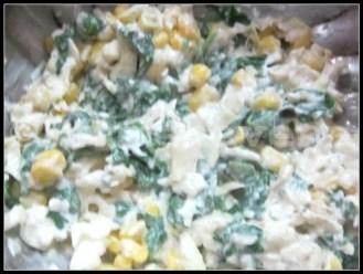 Spinach-Corn-Cabbage Stuffed Rice Rolls