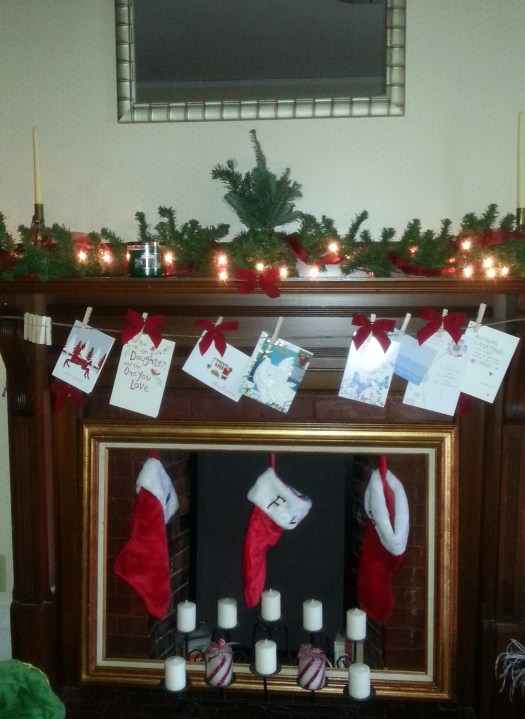 The Mantle (a.k.a. the only decorating I actually finished)