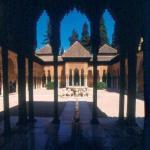 Patio Alhambra, Grenade, Esp