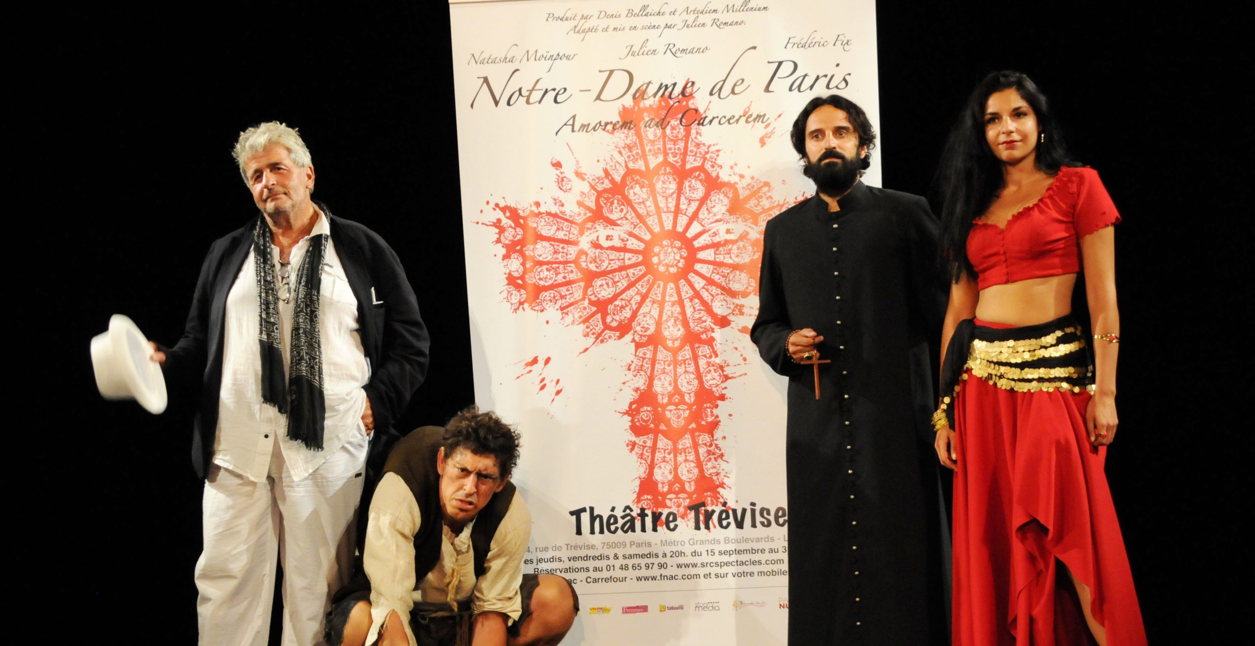 Notre Dame de Paris, un spectacle inouï avec 3 comédiens époustouflants…