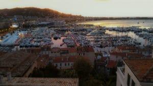 Cannes lever de soleil sur le port