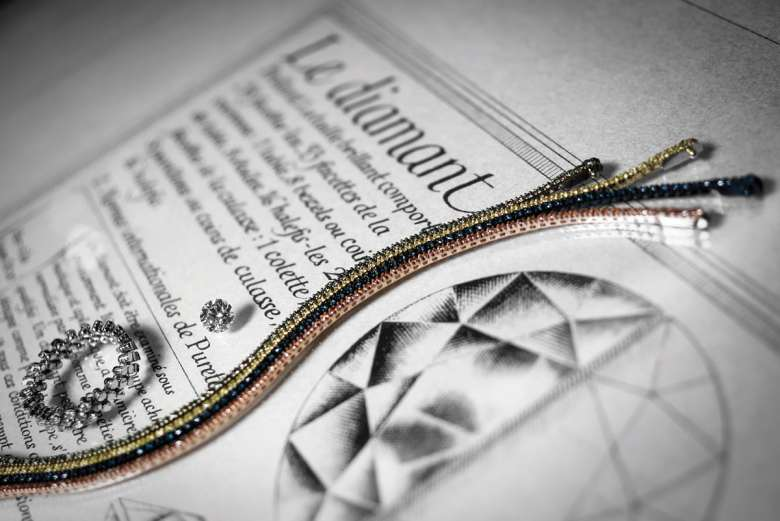 Bracelet en diamants colorés : 2390 € Bague Sérafino Consoli (extensible) : 4450 €