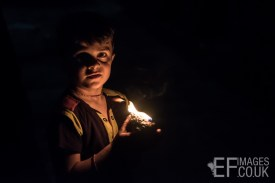 A Persecuted Minority Group Child Celebrates Sere Sal, Or Yazidi New Year With His Oil Lamp In Lalish, Iraqi Kurdistan. 19th April 2017