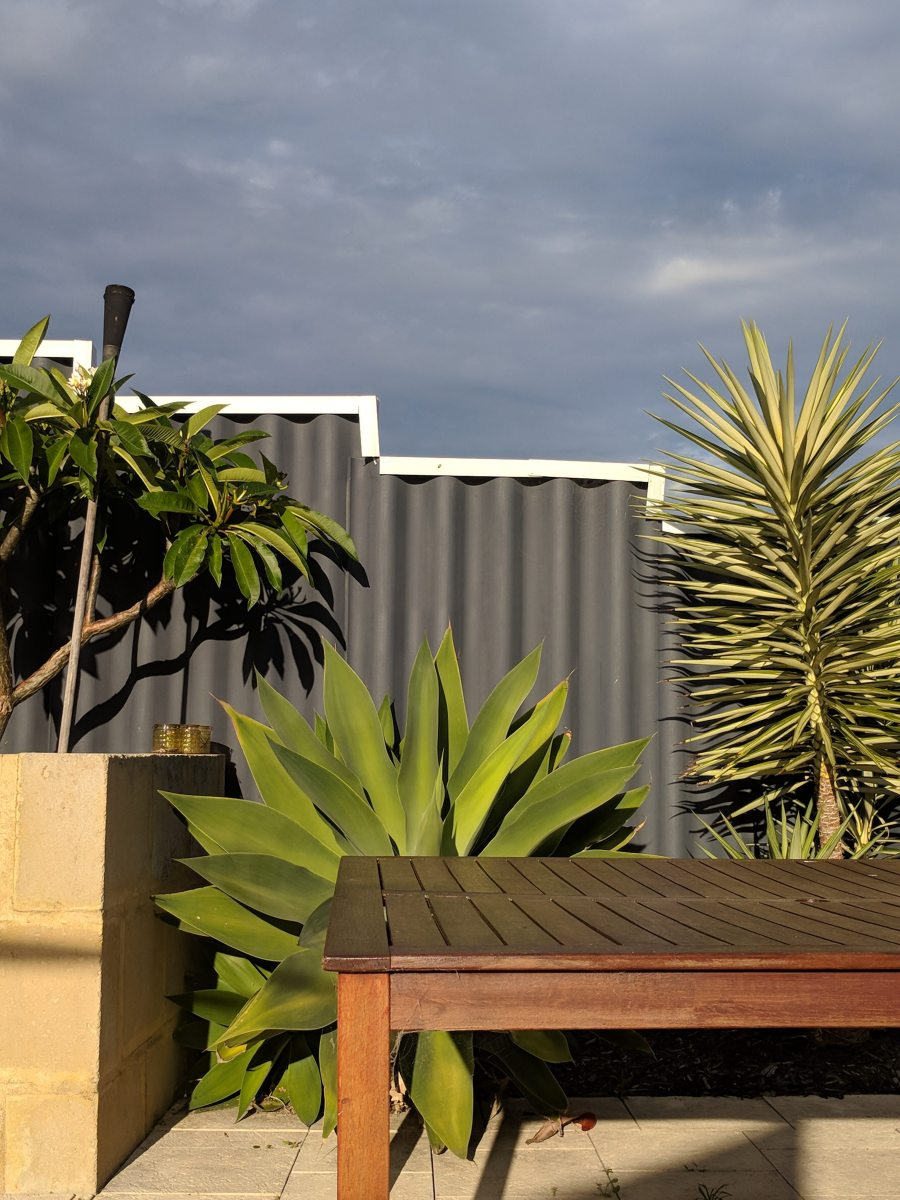 Ripple fence spray painted charcoal colour by Fence Makeovers team