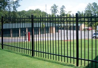 commercial steel fence