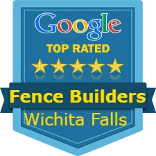 a logo saying the top rated fence company in Wichita Falls