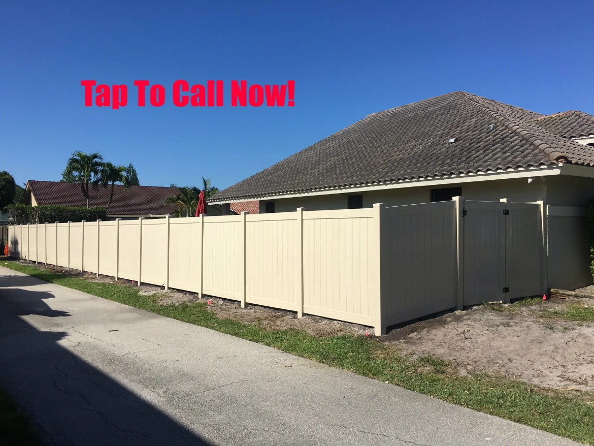 A new PVC fence installation in Wichita Falls