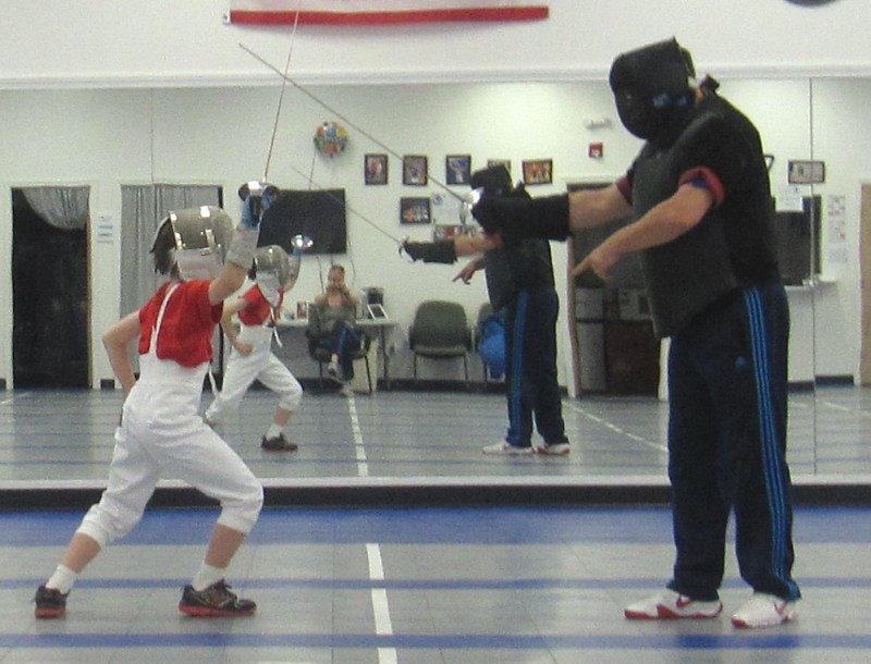 fencing lesson saber youth