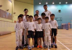 Coaches with Fencers from Poi Ching School