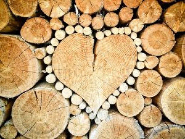 https://fendeuse-bois-facile.com - fendre du bois facilement - bois en forme de coeur -tas de bois