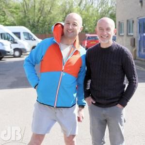 Main race organisers Martyn Leeks and Mark Hurworth