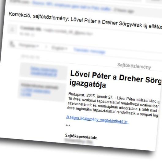 Már megint egy levél a Dréhertől