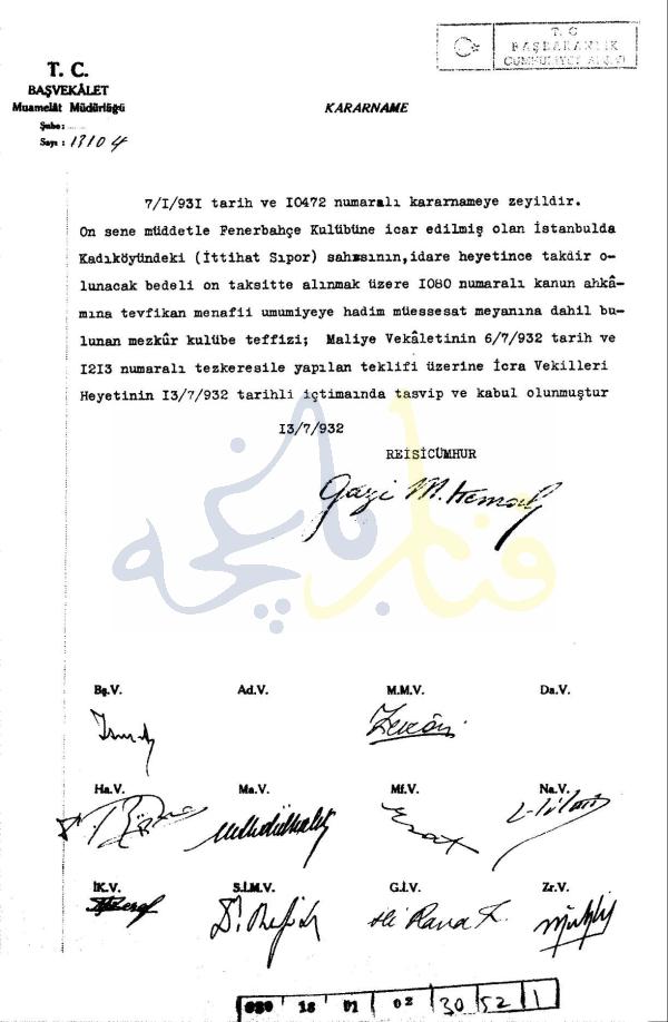 Atatürk ve Fenerbahçe Stadı