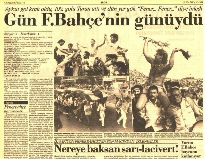 1988-1989 Şampiyonluk Turu