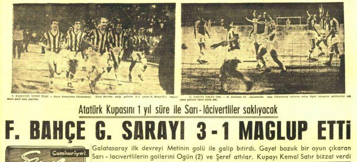 Fenerbahçe'nin İlk Atatürk Kupası