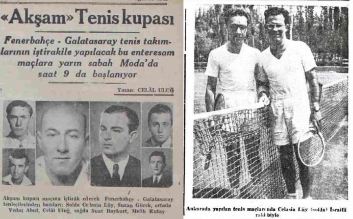3 Ağustos 1945 tarihli Akşam ve 8 Kasım 1952 tarihli Milliyet gazetelerinde Ayetullah Bey'in yeğeni, Fenerbahçeli tenisçi Celasin Lüy.