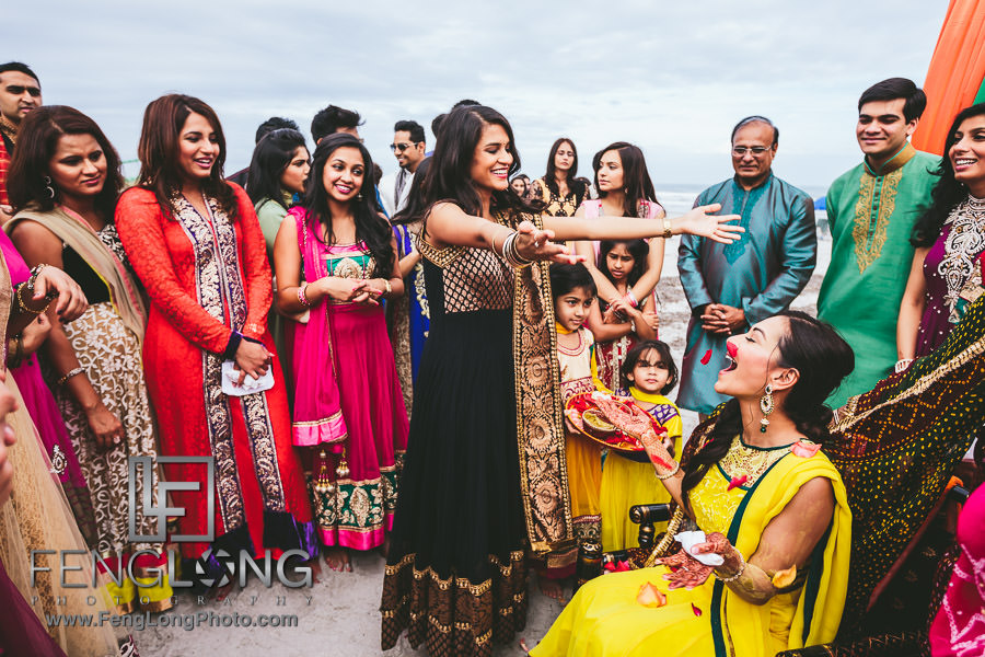 Cocoa Beach Destination Indian Ismaili Wedding - Pithi Ceremony