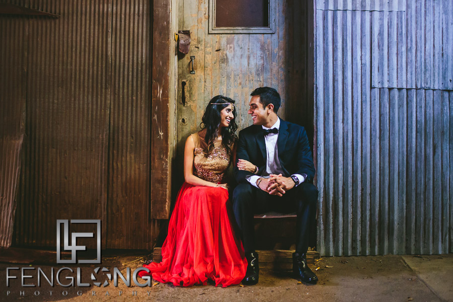 Atlanta Goat Farm Engagement Session Radhika & Kishan