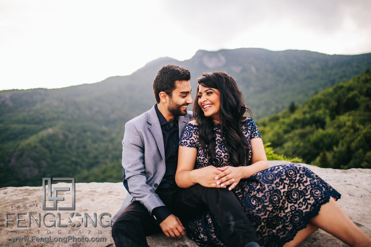 Asheville Blue Ridge Parkway Mountain Engagement Session