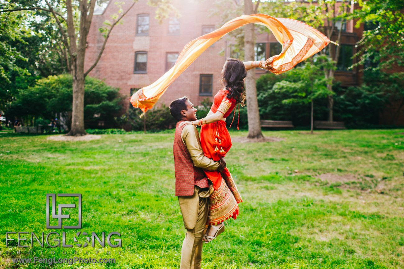 Philadelphia Indian Wedding Engagement Session