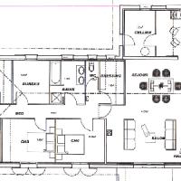 plan maison en forme de t