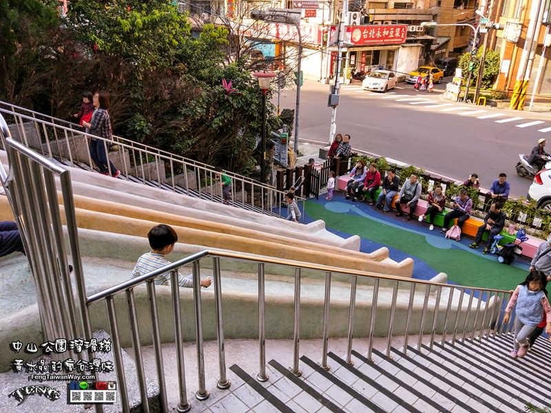 中山公園溜滑梯【親子景點】 新北三峽福德宮溜滑梯景點;三峽老街附近的新景點 @黃水晶的瘋台灣味