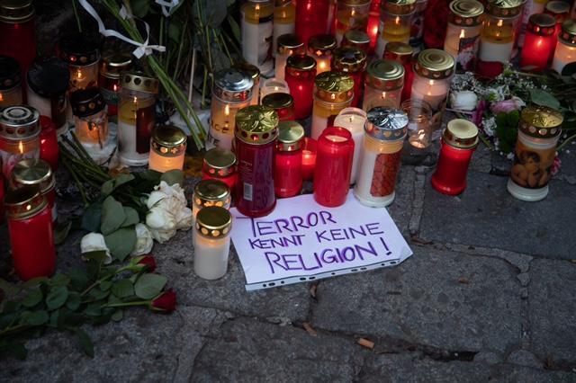 Svijeće i cvijeće za ubijene u Beču / Foto: Fenix (Ž. Cindrić)