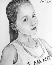 Портрет карандашом девочки - Fenlin.ru