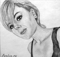 Портрет карандашом девушки с короткой стрижкой (фото) - Fenlin.ru