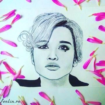 Портрет карандашом Ксении Бородиной (фото) - Fenlin.ru