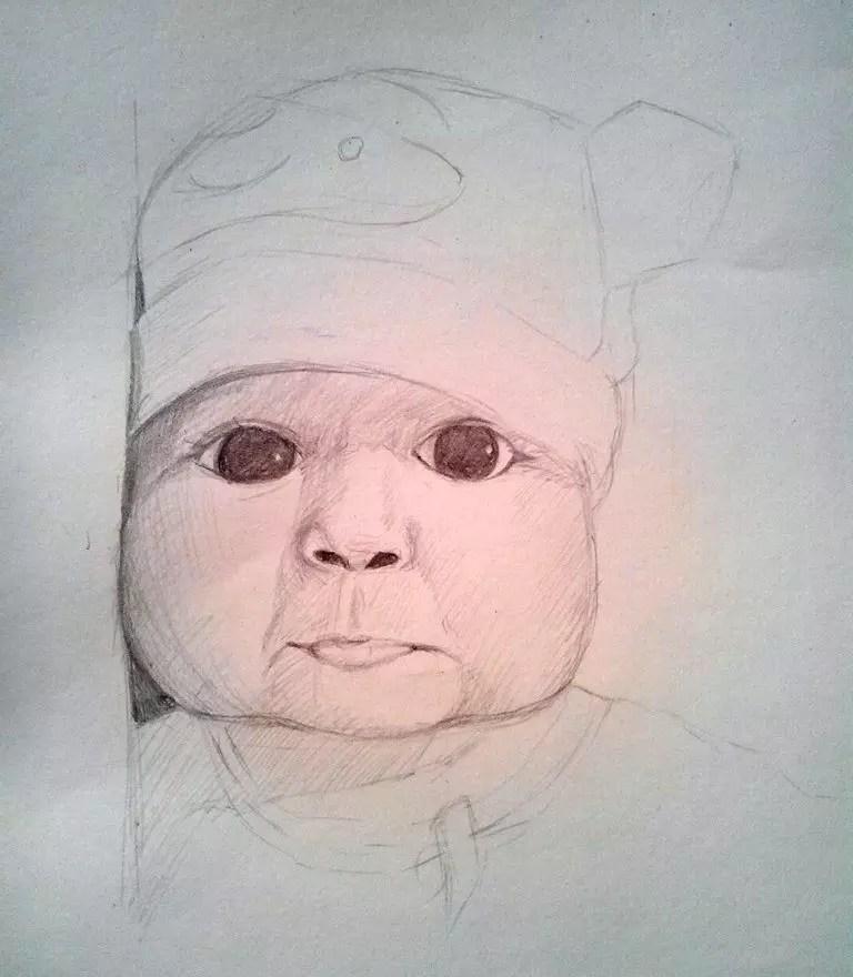 Как нарисовать ребенка? Шаг 11. Портреты карандашом - Fenlin.ru